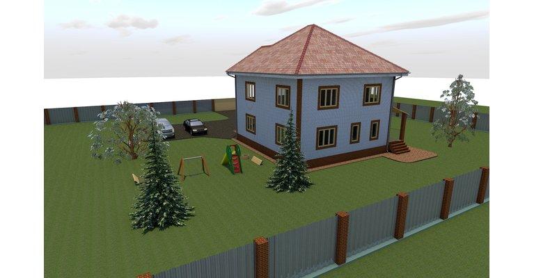 Проект кирпичного дома 260 кв.м. - К-260 - общий вид