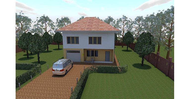 Проект каркасного дома КЩ-155, площадь 155 кв.м - общий вид