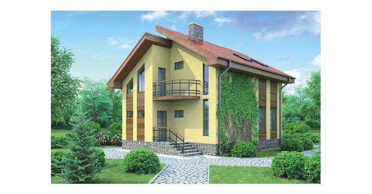 Проект каркасного дома Б-100, площадь 100 кв.м - общий вид