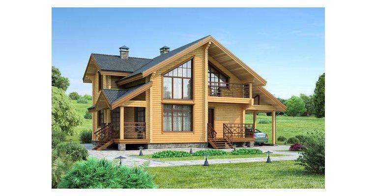 Проект дома БП-133 из профилированного бруса, площадь 150 кв.м - общий вид