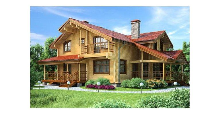 Проект дома БП-138 из профилированный бруса, площадь 138 кв.м - общий вид