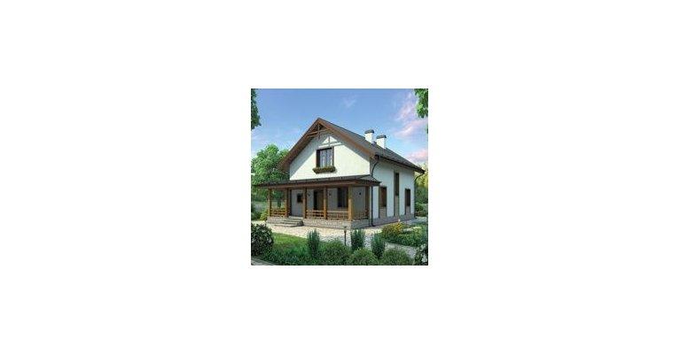 Проект дома ГБ-175 из газосиликатных блоков, площадь 175кв.м - общий вид