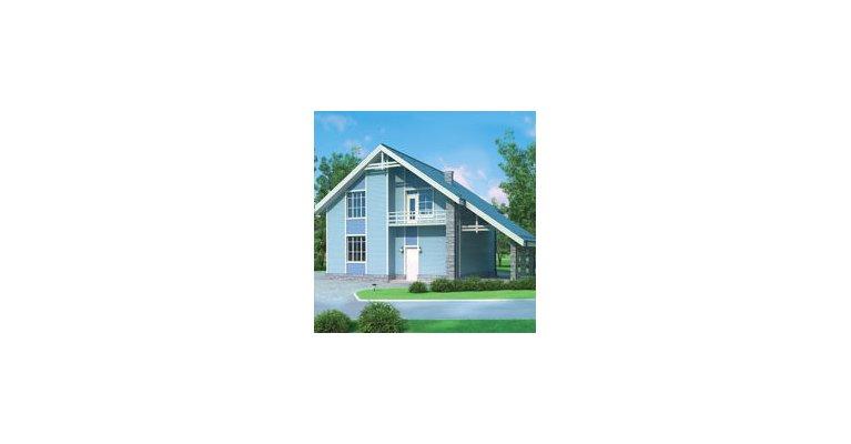 Проект дома ГБ-180 из газосиликатных блоков, 180кв.м. - общий вид