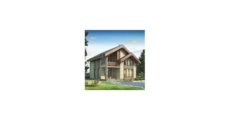 Проект дома ГБ-187 из газосиликатных блоков, площадь 187 кв.м - общий вид