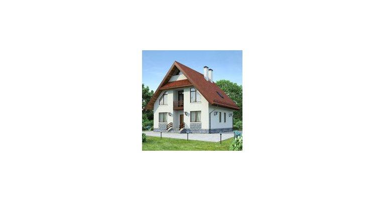 Проект дома ГБ-208 из газосиликатных блоков, площадь 208 кв.м - общий вид