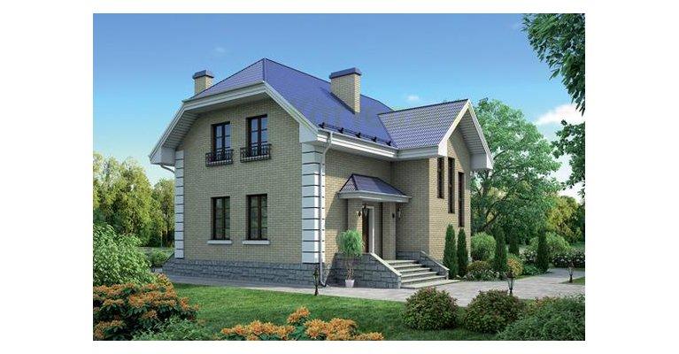 Проект кирпичного дома К-140, 140кв.м. - общий вид