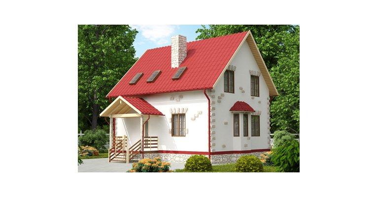 Проект каркасного дома КЩ-110, 110 кв м - общий вид