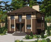 Проект дома ГБ-224 из кирпича с цокольным этажом, площадь 224 кв.м - вид 1