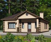 Проект кирпичного дома ГБ-123, площадь 123 кв.м - вид 1