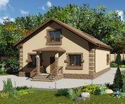 Проект кирпичного дома ГБ-152, площадь 152 кв.м - вид 1