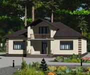 Проект кирпичного дома ГБ-156, площадь 156 кв.м - вид 1