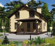 Проект кирпичного дома ГБ-177, площадь 177 кв.м - вид 1