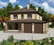 Проект кирпичного дома ГБ-220, площадь 220 кв.м - вид 1