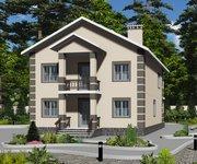 Проект кирпичного дома ГБ-203, площадь 203 кв.м - вид 1