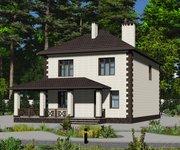 Проект кирпичного дома ГБ-170, площадь 170 кв.м - вид 1
