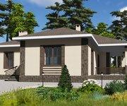 Проект одноэтажного кирпичного дома ГБ-171, площадь 171 кв.м - вид 1
