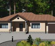 Проект одноэтажного кирпичного дома с гаражом ГБ-165, площадь 165 кв.м - вид 1