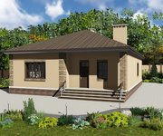 Проект одноэтажного кирпичного дома ГБ-162, площадь 162 кв.м - вид 1
