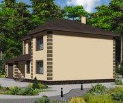 Проект дома ГБ-234 из кирпича, площадь 234 кв.м - вид 3