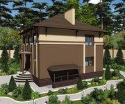 Проект дома ГБ-224 из кирпича с цокольным этажом, площадь 224 кв.м - вид 2