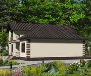 Проект кирпичного дома ГБ-156, площадь 156 кв.м - вид 2