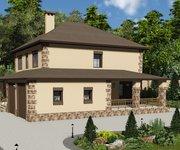 Проект кирпичного дома ГБ-220, площадь 220 кв.м - вид 2