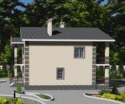 Проект кирпичного дома ГБ-203, площадь 203 кв.м - вид 2