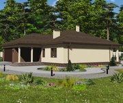 Проект одноэтажного кирпичного дома ГБ-223, площадь 223 кв.м - вид 2