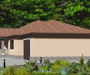 Проект одноэтажного кирпичного дома с гаражом ГБ-165, площадь 165 кв.м - вид 2