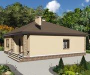 Проект одноэтажного кирпичного дома ГБ-162, площадь 162 кв.м - вид 2