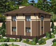 Проект дома ГБ-224 из кирпича с цокольным этажом, площадь 224 кв.м - вид 3