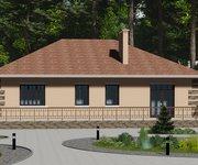 Проект одноэтажного кирпичного дома ГБ-128, площадь 128 кв.м - вид 3
