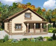 Проект кирпичного дома ГБ-152, площадь 152 кв.м - вид 3