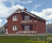 Проект кирпичного дома ГБ-208 - вид 3