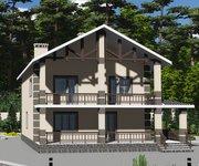 Проект кирпичного дома ГБ-203, площадь 203 кв.м - вид 3