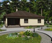 Проект одноэтажного кирпичного дома ГБ-223, площадь 223 кв.м - вид 3