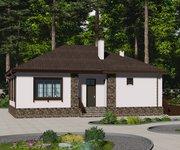 Проект кирпичного дома ГБ-172, площадь 172 кв.м - вид 3