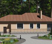 Проект одноэтажного кирпичного дома с гаражом ГБ-165, площадь 165 кв.м - вид 3