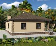 Проект одноэтажного кирпичного дома ГБ-162, площадь 162 кв.м - вид 3