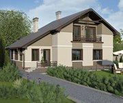 Проект кирпичного дома ГБ-164, площадь 164 кв.м - вид 1