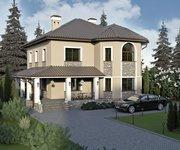 Проект кирпичного дома ГБ-196 с небом, площадью 196 кв.м - вид 2