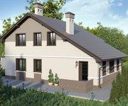 Проект кирпичного дома ГБ-164, площадь 164 кв.м - вид 2