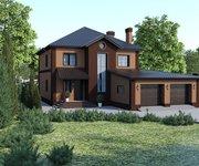 Проект дома ГБ-238 из кирпича, площадь 238 кв.м - вид 1