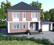 Проект кирпичного дома ГБ-195, площадь 195 кв.м - вид 1