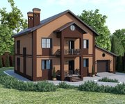 Проект кирпичного дома ГБ-194 - вид 1