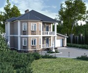 Проект кирпичного дома ГБ-193, площадь 193 кв.м - вид 1