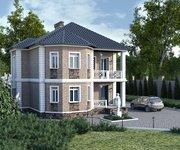 Проект кирпичного дома ГБ-168, площадь 168 кв.м - вид 1