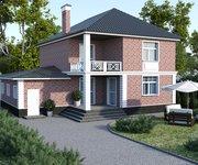 Проект кирпичного дома ГБ-195, площадь 195 кв.м - вид 2