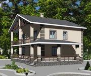 Проект кирпичного дома ГБ-203, площадь 203 кв.м - вид 4