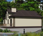 Проект кирпичного дома ГБ-156, площадь 156 кв.м - вид 4